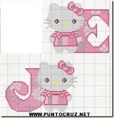 Hello kitty letras punto cruz  Punto de cruz  Coleccin de