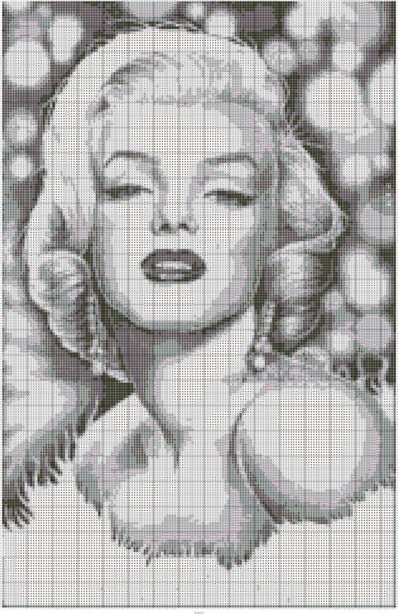 Marilyn Monroe en punto de cruz | Punto de cruz - Colección de ...